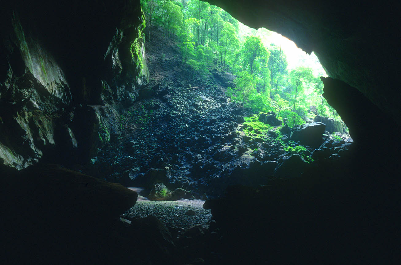Entrance of Deer Cave from inside